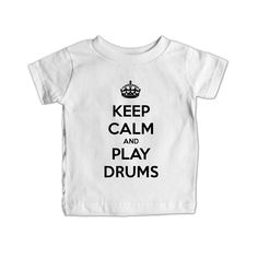 Keep Calm And Play Drums Musical Instrument Instruments Bands Band Musician Music Party Partying Parties SGAL2 Baby Onesie / Tee