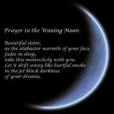 Prayer to the Waning Moon