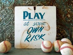 Vintage Wooden Carnival Game Sign / Hand Painted Warning Sign / As Is Condition by crazeecowgirlvintage on Etsy https://www.etsy.com/listing/216649896/vintage-wooden-carnival-game-sign-hand