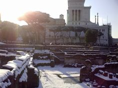 February 2012, snow in Rome...