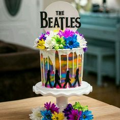 Loved creating this psychedelic Beatles cake for parents. I hope they loved this walk down memory lane and the… Beatles Birthday Party, 70th Birthday Parties, Themed Birthday Cakes, Themed Cakes, Birthday Board, Birthday Ideas, Beatles Cake, The Beatles, 50th Birthday Cake Images