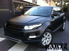Matte Black Land Rover Evoque.