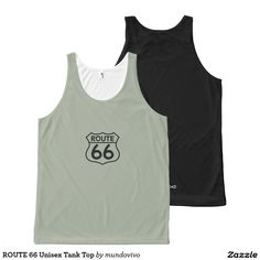 ROUTE 66 Unisex Tank Top All-Over Print Tank Top