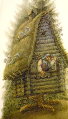 List Of Fairy Tales, Baba Yaga House, Nature Spirits, Fairytale Art, Wicked Witch, Russian Art, Cool Artwork, Folklore, Mythology