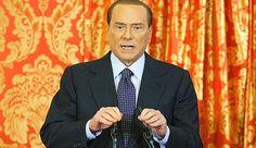 Il presidente onorario del Milan, Silvio Berlusconi, durante la conferenza stampa a Villa Gelmetto. Reuters