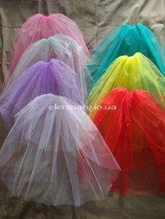 Фата для девичника, цветная фата для вечеринки