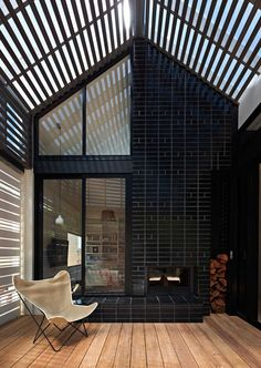 House Reduction by MAKE Architecture Studio in Victoria, Australia | Yellowtrace. As an alternative to the large 'box on back' extension, this project looks at how smaller spaces and multifunctional rooms can provide a large family with the space they need. External screens are used to provide flexibility and to allow the living space to expand and contract. Built in daybeds and joinery maximise the efficiency of the house in summer.