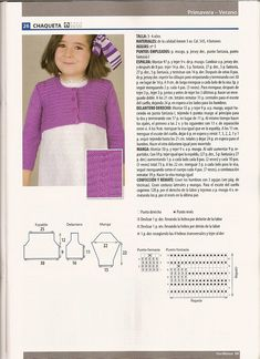 SOLO ROPITA DE BEBE EN PUNTO, GANCHILLO Y TELA (pág. 772) | Aprender manualidades es facilisimo.com Knitting For Kids, Crochet, Lana, Women, Fashion, Knit Jacket, Knit Baby Dress, Baby Knits, Fabrics