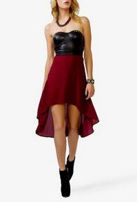 Maroon and Black High-Low Dress <3