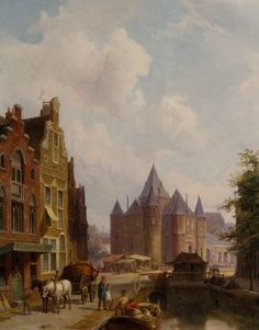 Pieter Cornelis Dommersen, A Canal in Amsterdam