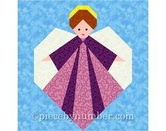 Christmas quilt pattern pack paper piecing от PieceByNumberQuilts