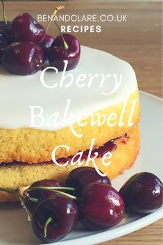 Try this simple-to-make Cherry Bakewell Cake. Delicious almond flavoured sponge, sandwiched together with cherry jam, and topped with icing. Cherry And Almond Cake, Cherry Cake, Almond Cakes, Baking Tins, Baking Recipes, Cake Recipes, Dessert Recipes, Bbc Recipes, Recipies