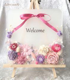 【再々々々々販】いい香りでお出迎え❁キャンドルプレート〜ウェルカムボード〜 Henna Candles, Gel Candles, Diy Candles With Flowers, Wedding Welcome Board, Handmade Soap Recipes, Wax Tablet, Diy Wax, Candle Art, Pine Cone Decorations