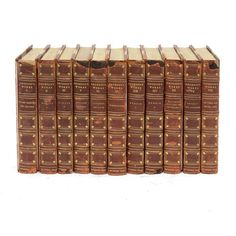 Set of 14 Antique Leather Bound Books - $495