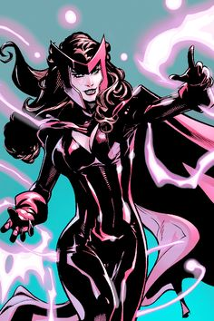 Marvel Comics: Scarlet Witch- member of the Avengers. Mutant superhero.