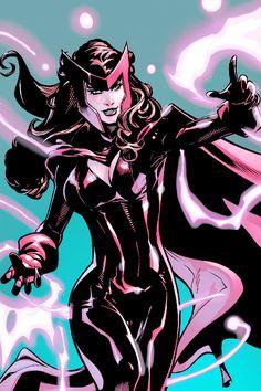 Marvel Comics: Scarlet Witch- member of the Avengers. Mutant superhero.