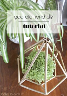 geo diamond diy plan