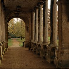 Stowe Landscape Gardens Inside the Palladian bridge at Stowe Landscape Gardens, completed in 1738 City: Buckingham County: Buckinghamshire Country: England