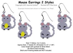 Mouse Earrings 2 Styles | Bead-Patterns.com