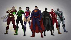 DC Universe New 52 Justice League By Phil Bourassa.