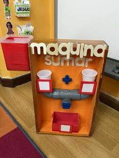 This is so clever! It is a adding machine. Learning to add is fun! Preschool Math, Kindergarten Math, Teaching Math, Math Class, Math Games, Toddler Activities, Preschool Activities, Kids Education, Math Centers