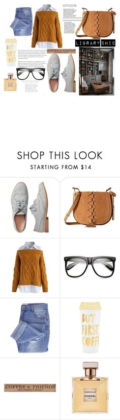 """Library Chic"" by rainfail ❤ liked on Polyvore featuring Gap, Vince Camuto, Chicwish, ZeroUV, Taya, ban.do, DutchCrafters and Chanel"