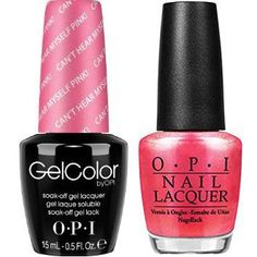 Opi Soak Off Gelcolor Gel Polish Matching Lacquer Can T Hear Myself