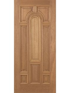 Revis Mahogany Exterior Single Door Plain Panel - Tall by Escon Door Exterior Door Design Images, Home Door Design, Pooja Room Door Design, Door Design Interior, Wooden Glass Door, Wooden Front Door Design, Wood Front Doors, Single Main Door Designs, Single Wooden Door Designs