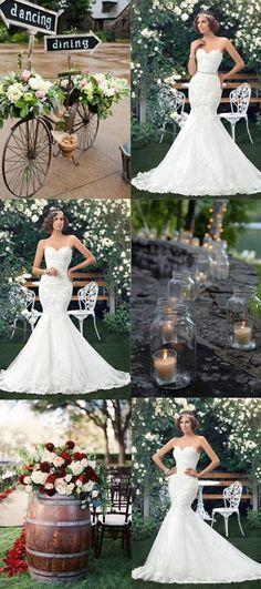 0efde65ab3  186.99 Dresswe.com SUPPLIES Hot Sale Mermaid Sweetheart Applique Lace-Up  Wedding Dress
