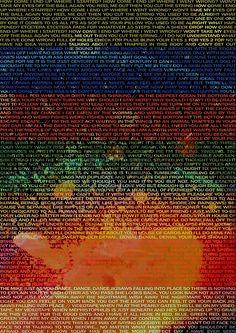 Radiohead - In Rainbows Album Lyrics Design #1 by joshwaites