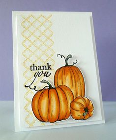 Love the added touch of a subtle background strip! And the pumpkins are beautiful!!!