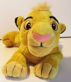 Disney's Lion King Young Simba Plush Walt Disney World Toy Stuffed Animal Beanie #Disney