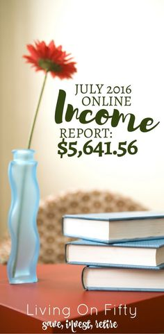 July 2016 Income Report 5 641 56 In Online Incom Work From Home Moms, Make Money From Home, How To Make Money, Online Income, Saving Ideas, Finance Tips, Budgeting, Investing, About Me Blog