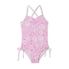 09f4b8ab67247 Beautiful pink floral print on this incredibly soft swimsuit