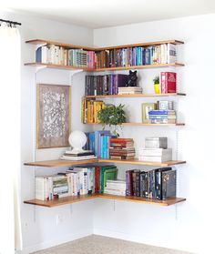 bookshelves (not sure which kids' room to put this in - maybe both? could be lego display space for the boy)