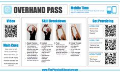 #Volleyball Overhand Pass. Find even more QR Code Skill Posters for #physed at http://www.thephysicaleducator.com/resources/skill-posters/