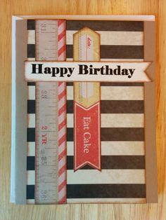 Happy Birthday Eat Cake Card by Cindysnoopy on Etsy, $3.50