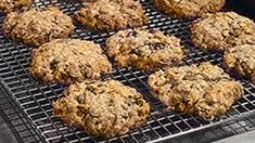 Even though the ingredient list may seem about as long as a grocery shopping list, they're simple to make. In fact, these cookies are so basic you can mix everything by hand; this helps to avoid overbeating, which may toughen the dough. Cookie Recipes, Dessert Recipes, Desserts, Protein Recipes, Protein Foods, Tea Recipes, High Protein, Kitchen Sink Cookies Recipe, Martha Stewart Kitchen