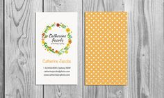 Floral watercolor business card by Light_Factory on Creative Market