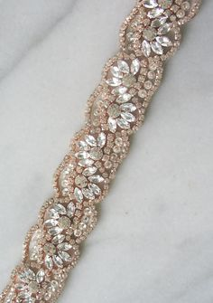 Rose Gold Swarovski Crystal Trim Rose Gold by TheRedMagnolia