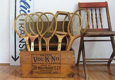 Decorative Vintage Tennis Raquets