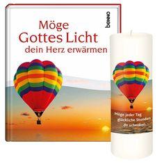 Liebevoll gestaltetes #Geschenkbuch mit ermunternder #Kerze