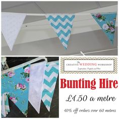Turquoise Bunting Hire UK  Creative Wedding Workshop has a large stock of bunting for hire available in the Hampshire and West Sussex area we also offer a postal hire service.  Tithe barn Petersfield, Manor Barn,  Southend Barns, Skylark Country Club, Veils and Bales Hampshire
