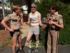 """""""First of all, I'm not gay"""" - Nick Swardson as Taco Terry in Reno 911"""