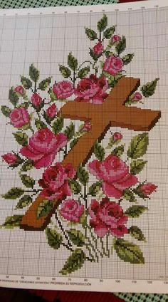 Cross Stitch Tree, Cross Stitch Borders, Cross Stitch Flowers, Cross Patterns, Counted Cross Stitch Patterns, Cross Stitch Embroidery, Cross Stitch Landscape, Easter Cross, Cross Stitch Pictures