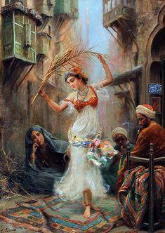 Title : An Oriental Dancer Artist : Fabio Fabbi ( 1861 - 1946 ) Italian Orientalist. Victorian Paintings, Renaissance Paintings, Animal Paintings, Paintings For Sale, Dancer Drawing, Turkish Art, Arabic Art, Impressionist Art, Italian Artist