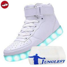 (Present:kleines Handtuch)c9 EU 41, High 7 Sneakers Sport Men Luminous mode LED-Licht Women Couple Changing Unisex Shoes Casual Charging JUNGLES