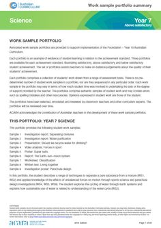 Year 7 Science work sample portfolio - above satisfactory Year 7 Science, Year 8, Australian Curriculum, Student Learning, Teaching, How To Plan, Education, Onderwijs, Learning