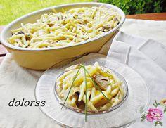 Blog de cuina de la dolorss: Pasta fresca trofie con salsa de ceps
