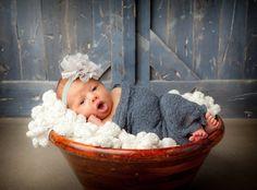 15 Off..Baby Headband..Baby Flower Headband..Grey by cutenessbuns, $9.00